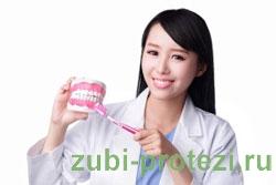 недостаточная гигиена полости рта, при воспалении десен